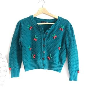 Sweaters - Vintage Embroidered Cardigan
